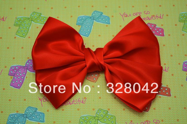 Trail order Princess hair bow tie clip satin ribbon bows hairpin DIY flower bows hairclips hair accessories 50pcs/lot(China (Mainland))
