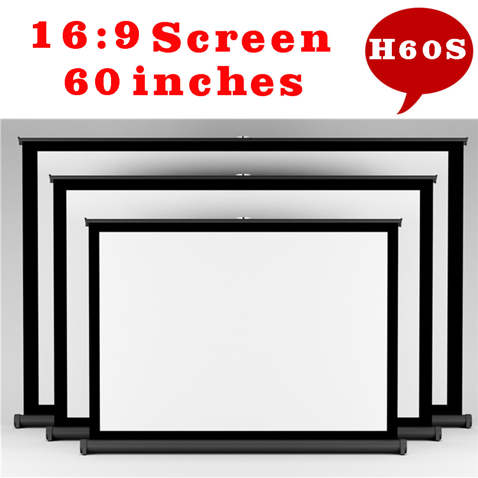 60 inches 16:9 Projector HD Screen Portable Folded with Frame 2015 everyone gain convenient to carry used for movies and meeting<br><br>Aliexpress