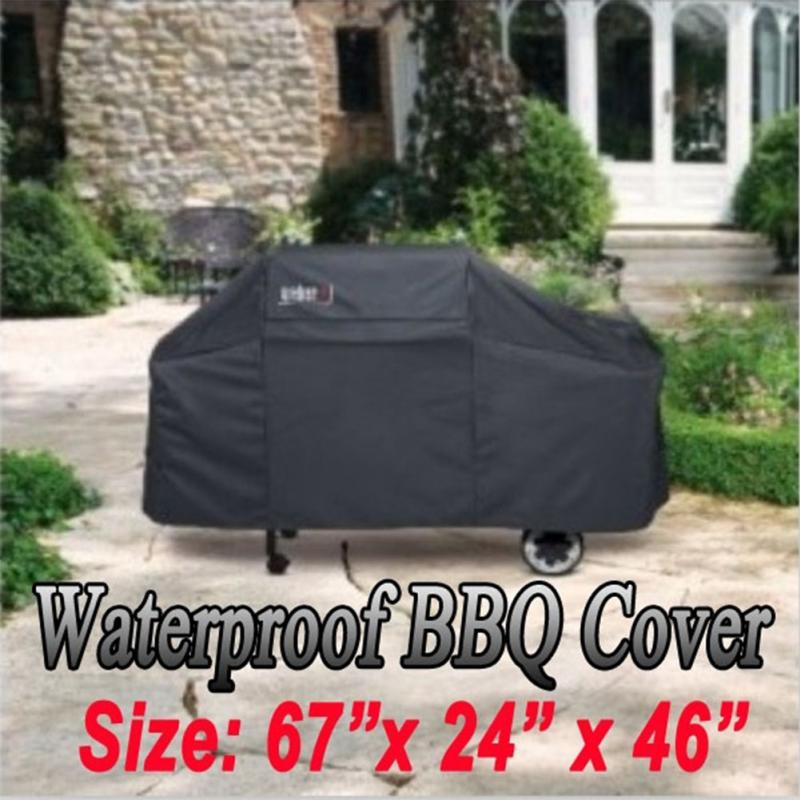 170*61*117M Black Waterproof Bbq Cover Outdoor Rain Barbecue Grill Protector For Gas Charcoal Electric Barbeque Grill(China (Mainland))