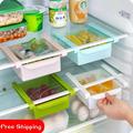 Refrigerator Preservation Separator Layer Multi purpose Storage Rack 2 Pieces Lot Classification Refrigerator Drawer Storage Box