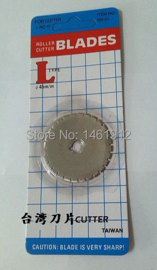 Taiwan import wheel/round knife/cloth cutting knives/hob/round hob breakpoints 45 mm blade SB 11