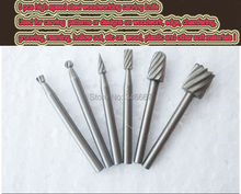 Free shipping 6Pc HSS Routing Router Bits Burr Rotary Tools Suit Dremel & Rotary Tool
