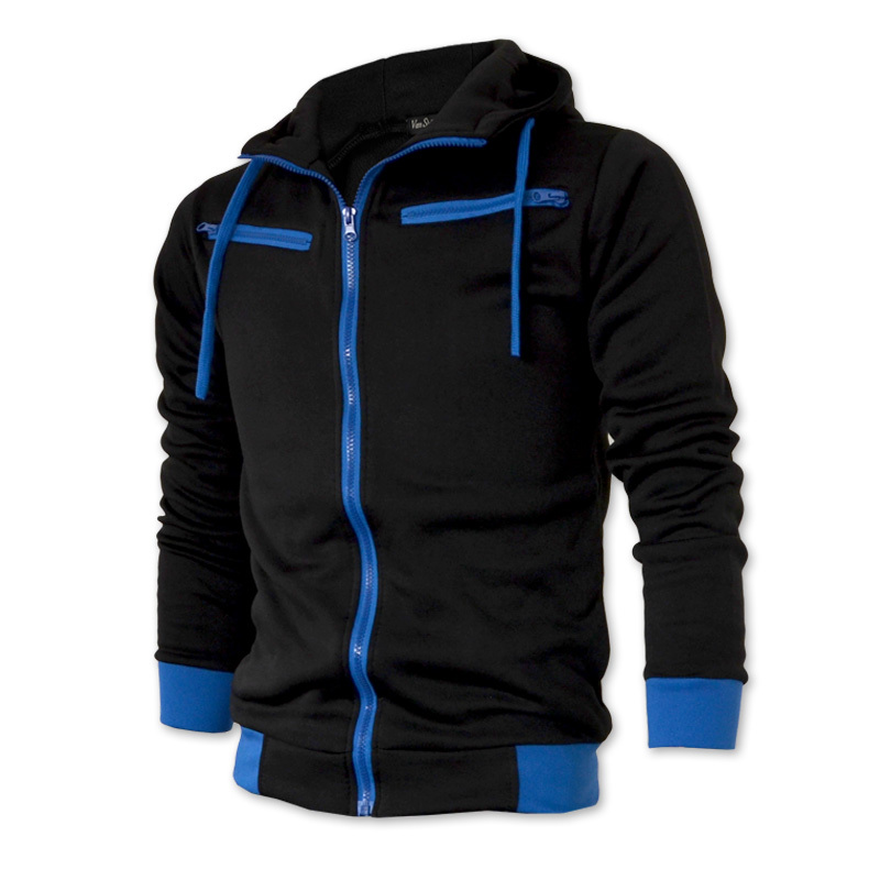 Fashion Brand New 2015 Fleece Solid Color Zipper Hoodie Jacket Men, Sportswear Slim Fit Winter Coat Men,Oversize,Dropship,OEM(China (Mainland))