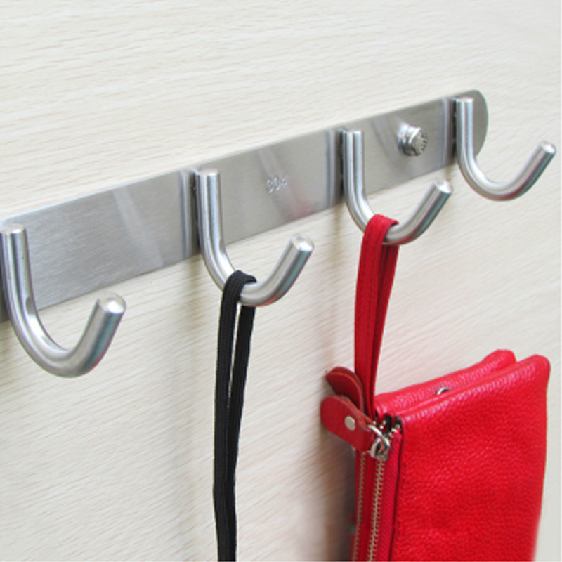DHL Free Shipping Stainless Steel Modern Clothes Hanger Bathroom Towel Door R