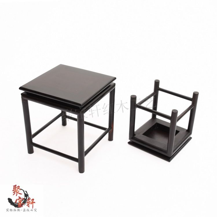 Ebony sculpture household act the role ofing is tasted the vase flowerpot aquarium handicraft furnishing articles mahogany base