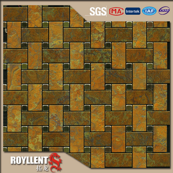 Royllent Acp Mosaic Diy Brown White Peel And Stick