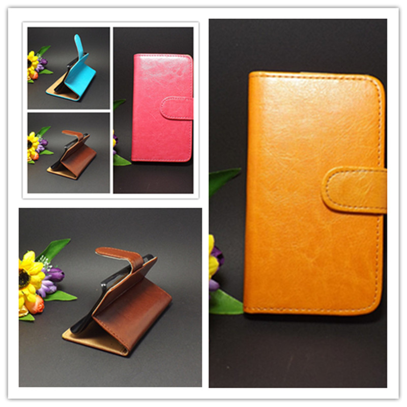 Crazy horse Flip leather case Credit Card Slots and stand functionFor Explay Vega Free shipping(China (Mainland))