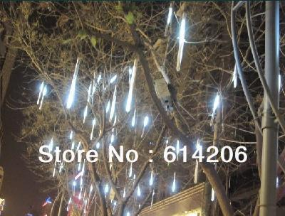 50 cm white light LED meteor lamp series small meteor shower lamp mini meteor tube holiday decoration lights Christmas lights