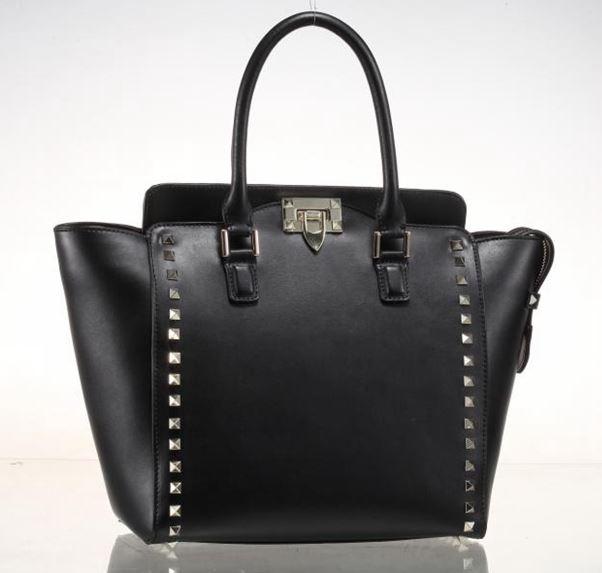 bolsa de franja 2014 women rivets handbag genuine leather brand rivets bag ladies handbags shoulder handbag<br><br>Aliexpress