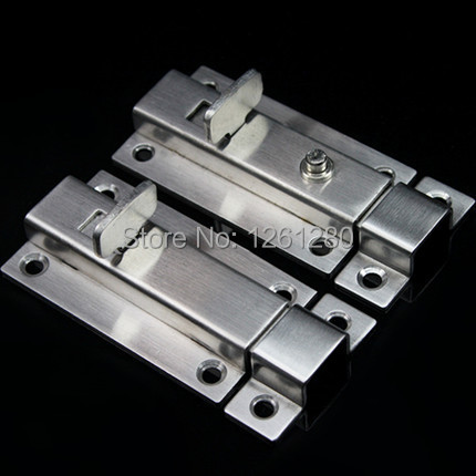 free shipping 3 inch door bolt House Ornamentation Door Hardware Lock stainless steel padlock latch thickened spring Door Latche(China (Mainland))