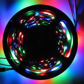 5M 30LEDsl/M WS2812B WS2811 IC Digital 5050 RGB LED Strip Light Black PCB Non-Waterproof DC5V(China (Mainland))