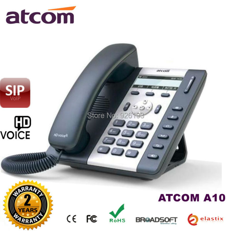 ATCOM A10 1 SIP Line Entry-level business IP Phone with Dual core CPU, HD voice, backlight LCD Desktop office VoIP telephone(China (Mainland))