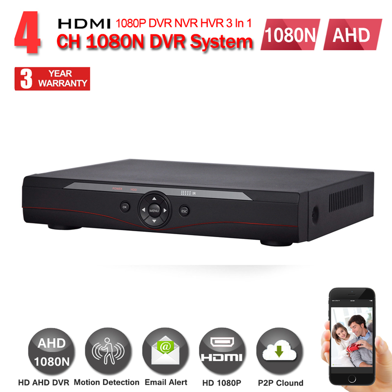 4 CH CCTV DVR Recorder H.264 Full 1080N Security DVR w/ HDMI Video Output Support iPhone Android Phone Remote View HDD