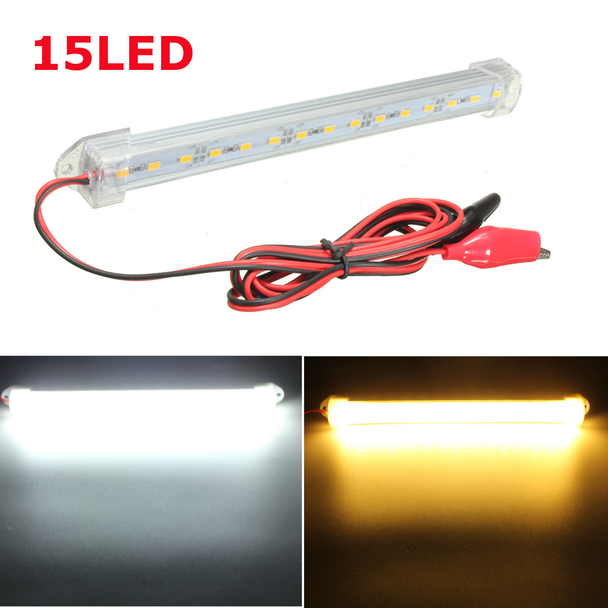 new 12v led 150cm car interior light bar tube strip lamp van boat caravan motorhome truck. Black Bedroom Furniture Sets. Home Design Ideas