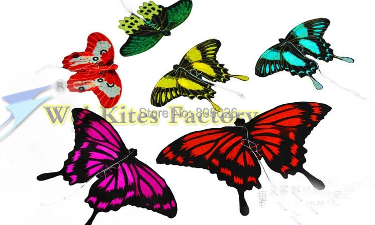 free shipping high quality mini handmade butterfly kite with handle line easy flying higher outdoor toys flying pocket kite wei(China (Mainland))