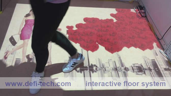 3D projection screen and lowest price interactive floor system,Each effect is completely configurable(China (Mainland))