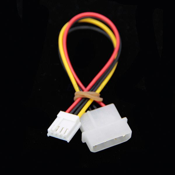 Retail-B High Quality 2 pcs 4 Pin IDE ATA Power Supply Molex to Floppy Adapter Cord Cable(China (Mainland))