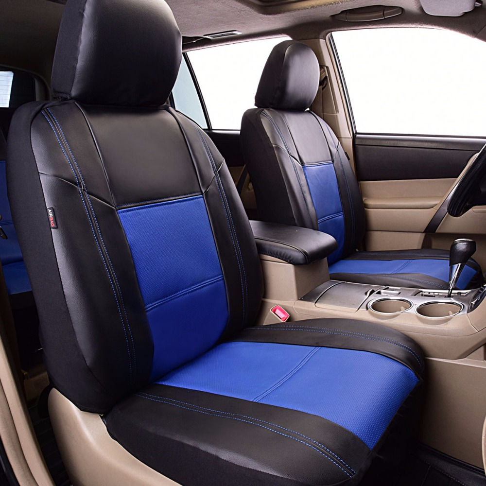 Pu Leather Car Seat Covers Front 2 Seat Covers Universal