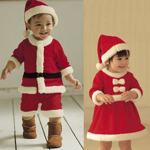 New Winter red christmas Baby clothing sets children suit .children wear .1sets/lot Nice Short Design +free shipping(China (Mainland))