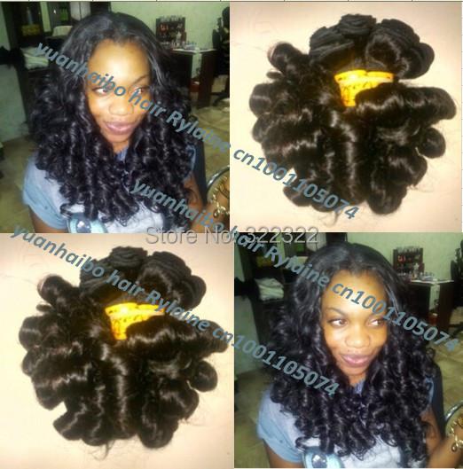 Здесь можно купить  Hot funmi hair Top 6a quality 3pcs/lot 1b# brazilian egg bouncy curl virgin aunty funmi hair for black women free shipping  Волосы и аксессуары