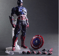 Captain America Action Figure Toys Play Arts Kai Collection Model Anime Captain America Playarts Toy