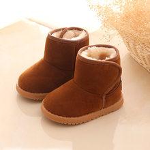 2019 חדש בפלאש חם תינוק פעוט מגפי אופנה ילד שלג מגפי נעלי בני בנות חורף נעלי 1-3 שנה ישן ילדים קרסול מגפיים(China)