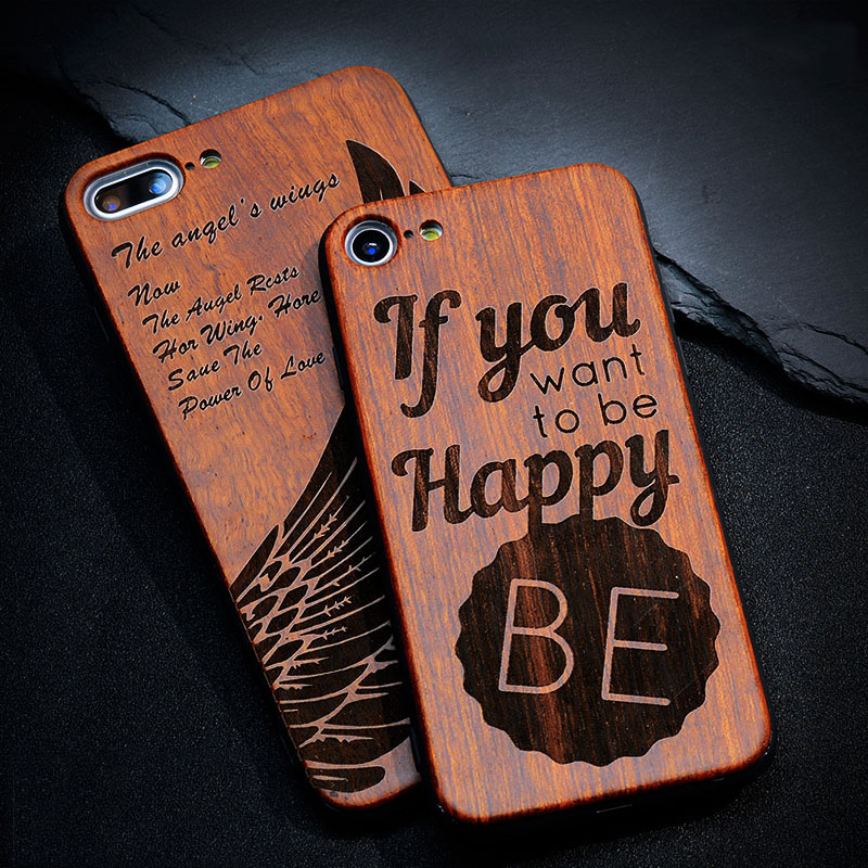 Bamboo Wood Phone Cases For Apple iPhone 7 6 6S Plus SE 5 5S Thin Luxury High Quality Shockproof Wooden Embossed Protect Phone(China (Mainland))