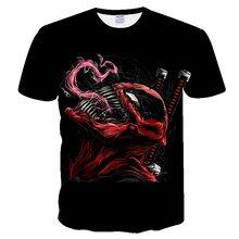 ポケモン 2019 tシャツ男性最新毒驚異 tシャツ 3D プリント Tシャツ男性女性カジュアルシャツ Tシャツシャツ Tシャツトップス tシャ(China)