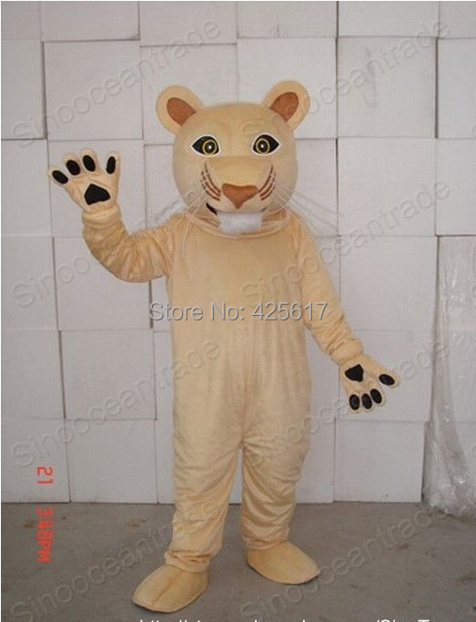 Hot selling!New clever light brown COUGAR LION Cartoon Fancy Dress Suit Outfit Animal Mascot Costume - Sam's World store
