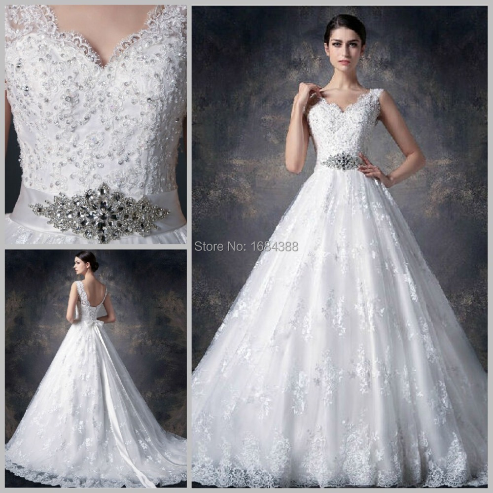 Buy 2015 real photo white ball gown for White elegant wedding dresses