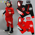 2016 Spring Autumn Kids Boys Clothes Hero Brands Long Sleeve Hooded Tops Pant 2pcs set Toddler