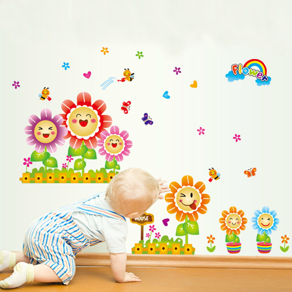 Decor Living Room Rooms Bedroom Posters Cartoon Baby In Wall Stickers
