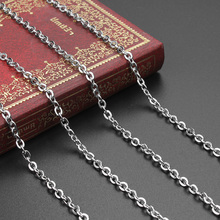Buy 5 yards/pack Silver Tone Men Stainless Steel Chains 3mm Flat Link-opened Bulk Chains Women Jewelry Making Materials for $8.20 in AliExpress store