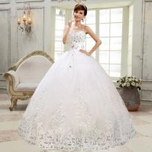 sweetheart dress ball gown wedding dressdre ground flat crystal Princess dress(China (Mainland))