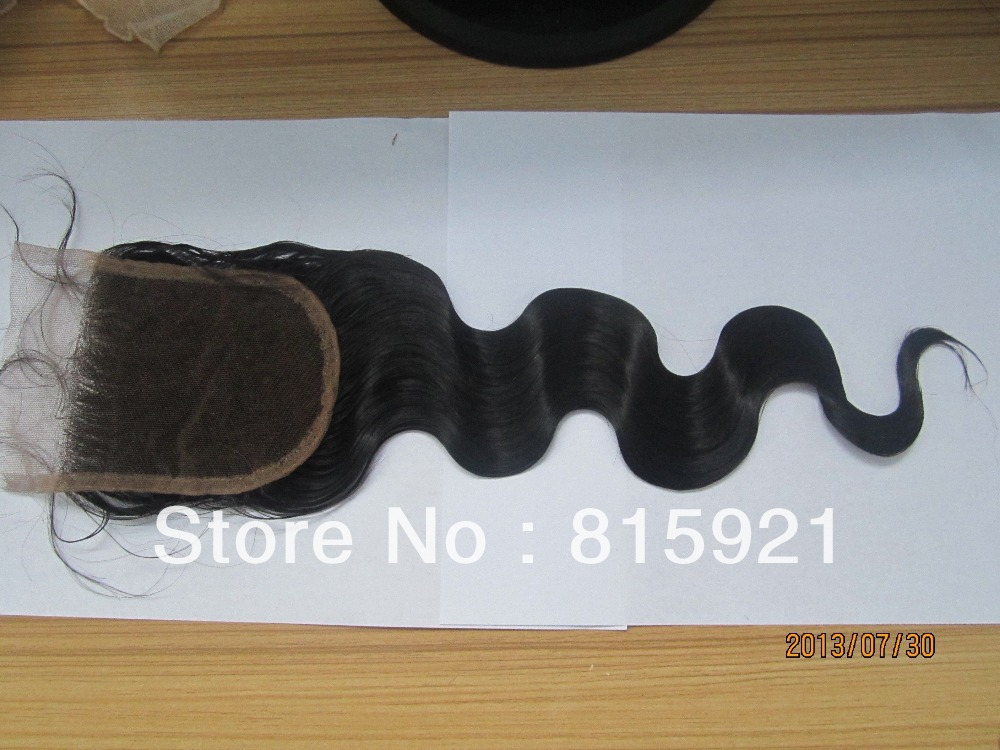 Elegant Wig 4x4 Size Indian Human Hair 1b Color Body Wave Top Closure - EJS Shop store