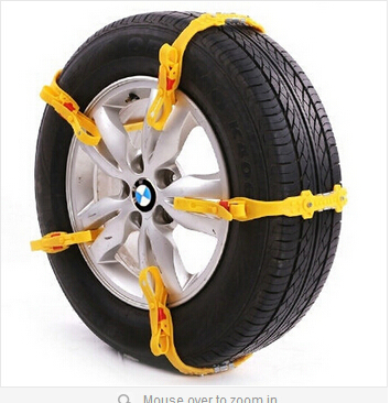 2015 newest 10 x Universal Adjustable Auto Car SUV Snowblower Tire Snow Chains For Mug/Ice Road(China (Mainland))