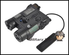 Airsoft Tactical Military Element AN/PEQ-16A Laser Pointer & LED Illuminator Aiming Light Battery Case For Hunting Shooting