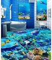 customized 3d photo wallpaper Dazzle beautiful underwater world 3D floor 3d mural PVC wallpaper self adhesion