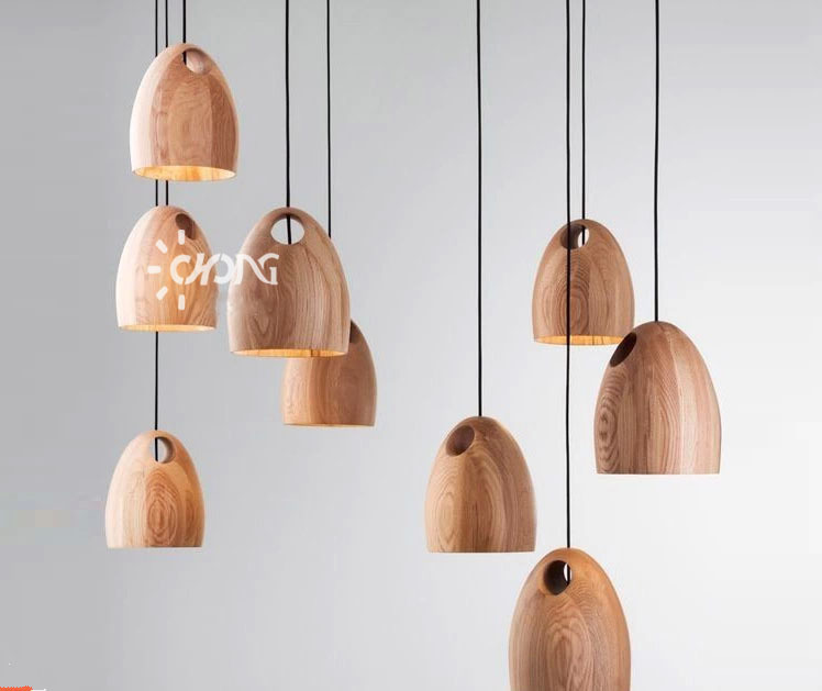 Modern Simple Style Individual Naturn Wood Pendant Lights Home Decoration Lamps for Living Room Bed Room(China (Mainland))