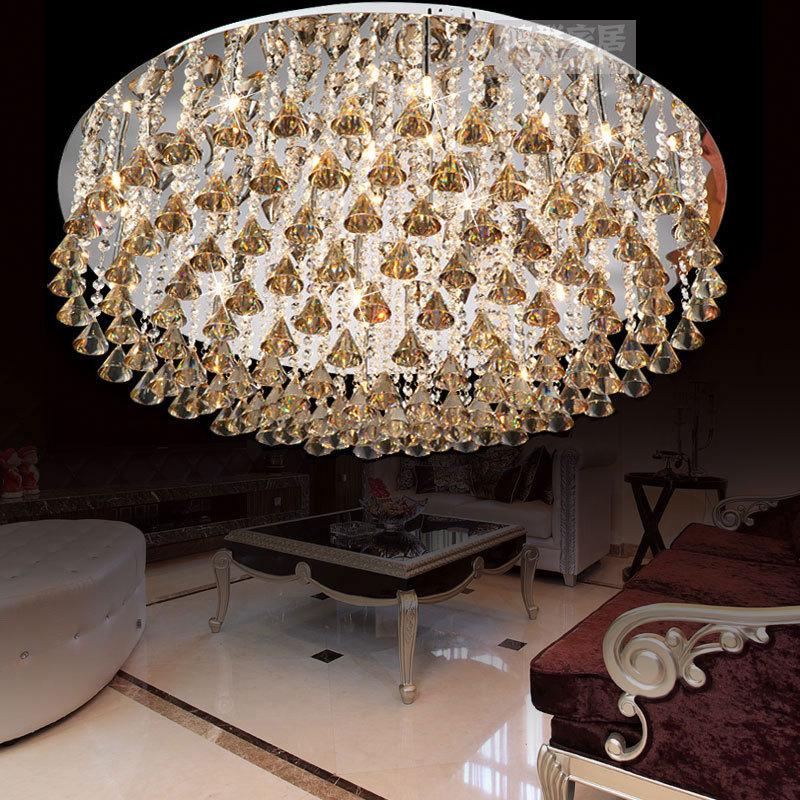 Austrian India Luxury Living Room Lamp Lighting Lamps Bedroom Lamps Ceiling Crystal Light Cognac