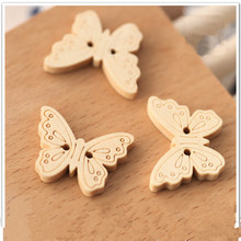 Buy 100PCS Natural Color butterfly wooden button scrapbook sewing accessory handmade decorative button clothing diy craft for $5.76 in AliExpress store