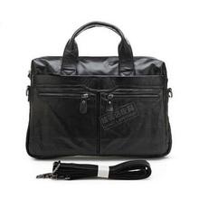 J.M.D Genuine Leather bags shoulder Vintage Leather Men's Black Briefcase Laptop Bag men Messenger bags Handbag totes 2014#7122A