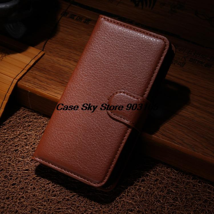 wallet Leather Case Sony Xperia M2 Aqua D2406 D2403 leather case credit card holder Black - alice top store