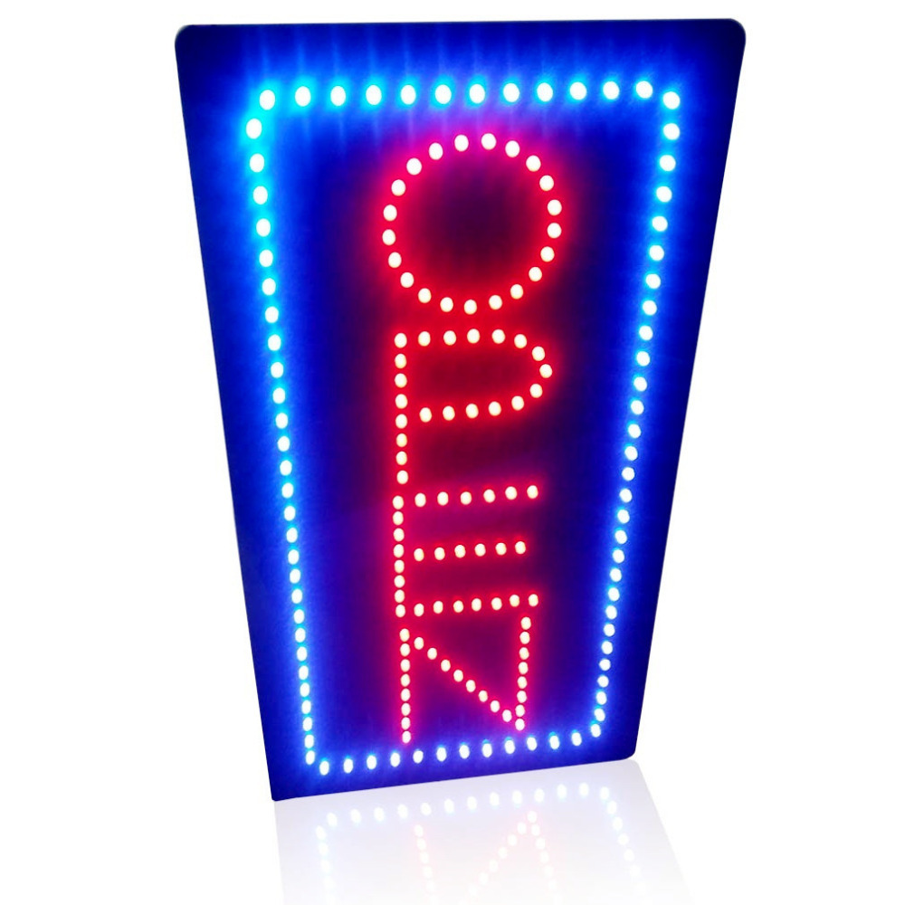 19 x9 5 animated motion led sign board open led neon sign. Black Bedroom Furniture Sets. Home Design Ideas