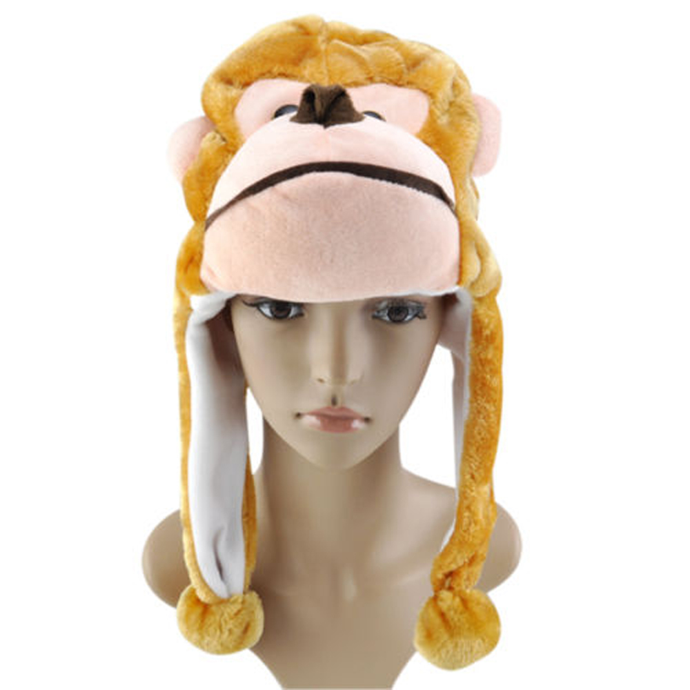 New! New! New!Childrens Animal Hat With Scarf Mit, Faux Fur Kids Winter Hat Cool Gift UK(China (Mainland))