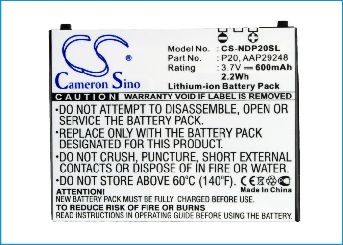 Cell Phone Battery For NTT DOCOMO For P-01B, P-02B, P-04B (p/n AAP29248, P20)(China (Mainland))