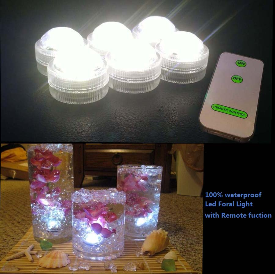 12 PCS/Lot Popular Waterproof Small Battery Operated Single Mini Led Submersible Lights For Crystal Vases Centerpiece Decoration(China (Mainland))