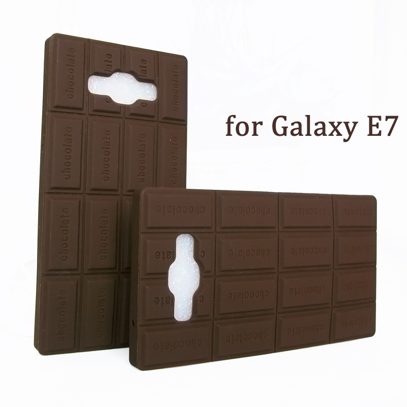 Case Galaxy E7 Silicone 3D chocolate cover E 7000 phone cases 7009 mobile covers soft silicon shell  -  peasecod accessories store