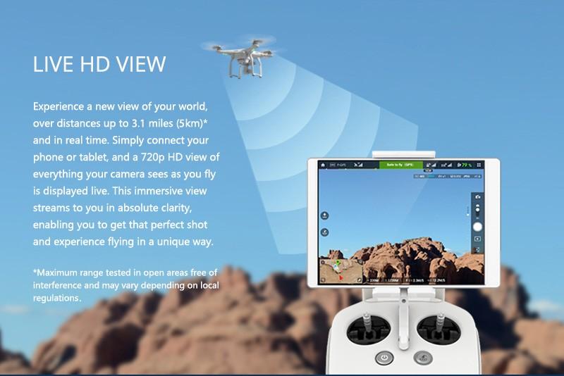 DJI Phantom 3 Professional Pro RC Quadcopter Helicopter Camera Drones 4K 12.0 Mega Pixels