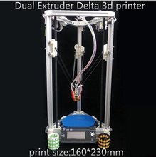 HE3D high quality 3d printer  Delta Dual-Extruder 3d printer-2GB SD For free